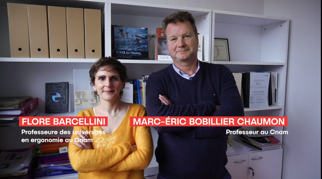 Flore Barcellini et Marc-Eric Bobiliier chaumon, professeurs au CNAM
